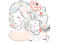 Motherhood - Editorial illustration for La Nación
