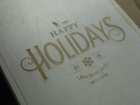 Happy Holidays-Wood Box