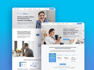 facturama ux  ui website design redesign website ui