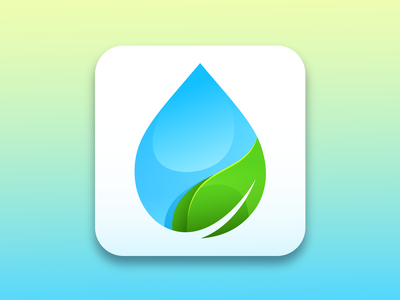 Drop icon vector art icon app clean water icon vector