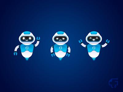 Bots illustration vector moods robot bot character