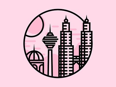 Kuala Lumpur round line asean asia kuala lumpur landmark icon