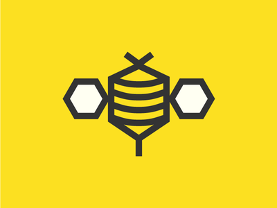 Polygon Bee polygon hive honey insect icon logo bee