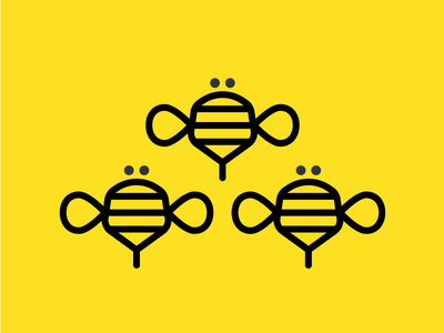 More bees polygon hive honey insect icon logo bee