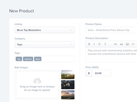Add New Product UI