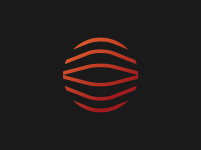 O ombre lines logo symbol o