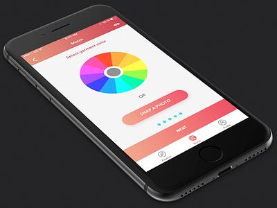 Color selector gradient button selector ui color wheel