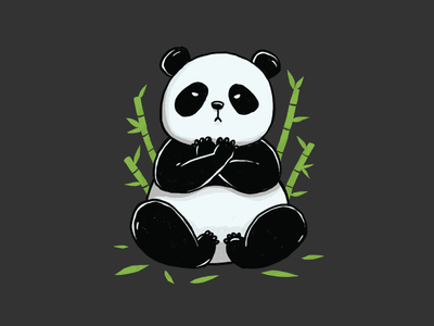 Panda Forever t-shirt illustration bamboo pet animal furry cute black panther wakanda bear panda