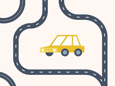 Flat Map Kit 04 build simple vector tarmac line road vehicle transportation transport car kit map flat