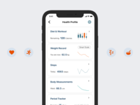 Day 18 Analytical Chart day 18 ios sketch iphone app vector ux ui nutrition health app diagram chart app analytics dailyui