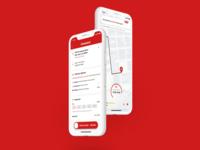 Day 20 Location Tracker food delivery app sketch design illustration vector location tracker day20 app apple ios food app delivery app ux ui dailyui