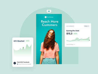 Marketing Campaign - Reach More Customers graphic vector web branding ui illustration figma design figma design
