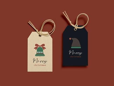 holiday gift tag gift tag dribbbleweeklywarmup vector santa presents illustrator icons christmas design illustration