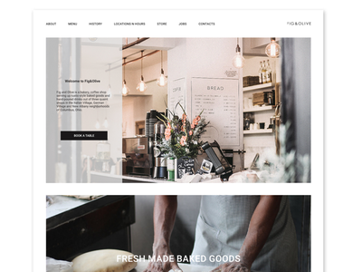 website for coffee house coffee web design ui ux graphic