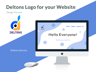 Deltons Logo abstract desogn idea logo delivery service delete delicious delivery app delivery dribbble digital dailyui drawing design d mark delton dlogo d monogram d letter logo d letter d logo