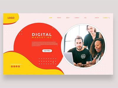 Landing Page Digital Marketing Company ux website web letterhead 99designs app logo ui typography branding design