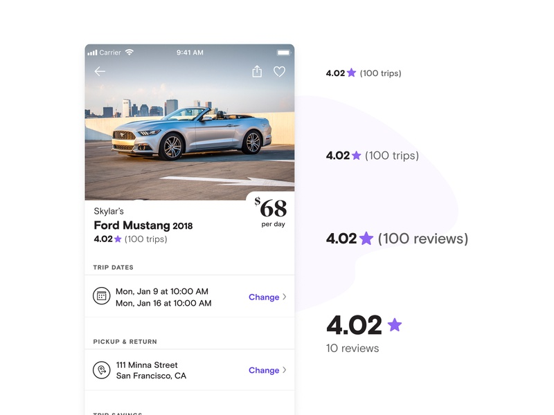 Making Stars Useful ios ux mobile booking peer-to-peer ecommerce travel compare reviews ratings