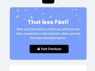 That Was Fast! illustration confetti checkout ecommerce