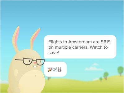 Watch to save! 🎉✈️🐰 share android ios