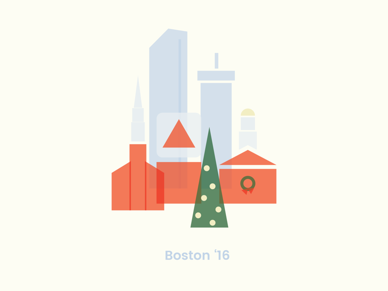 2016 holiday cards dribbble