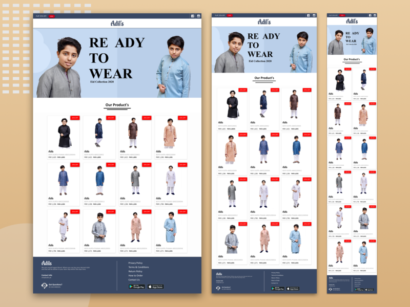 Cloth E-Commerce Product Showcase Website sketchapp animation sketch cloth netroz page adils animaapp website child