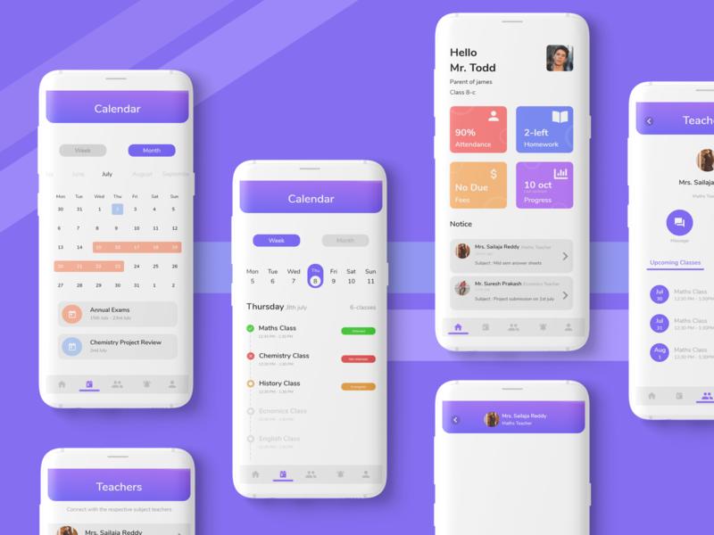 Student progress app user experience app user interface design