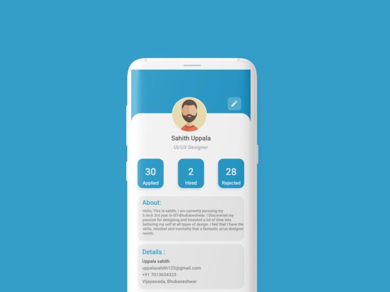 Profile UI profile ui profile design job portal mobile ui mobile app design user experience app