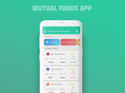 Mutual funds App UI Concept user experience human centered design mobile application mobile design mobile app design mobile app mobile ui user interface design