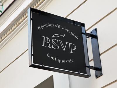 RSVP Cafe Sign