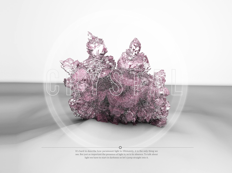 Crystal visual shape pink crystal color