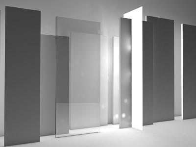 glass c4d grey inspiration visual graphic