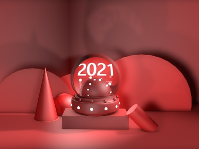2021 design shape graphic color c4d 2021 new year red