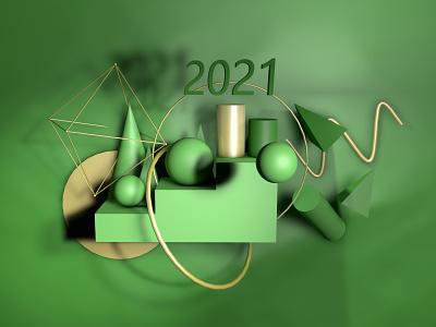 green 3d art c4d visual design inspiration graphic shape color