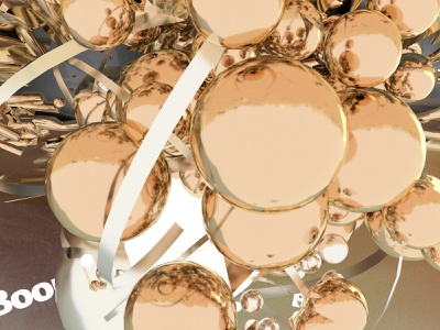 Up side down 3d balls yellow gold c4d design inspiration visual shape graphic color