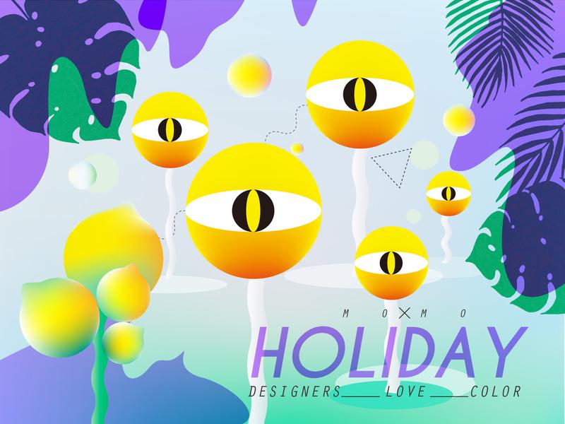 Holiday illustration shape inspiration visual graphic color