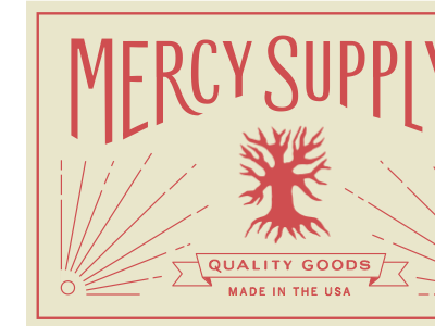 Mercy Supply Lettering / Tag lettering label made in the usa
