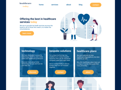 Healthcare Landing Page