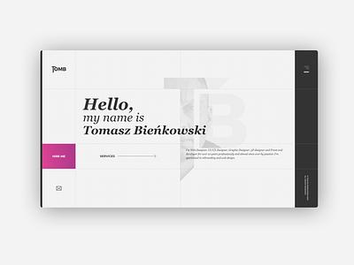 Tomb logo ux uiux ui website webdesign home portfolio