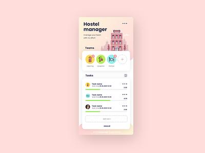 Hostel manager mobile app app design ux ui