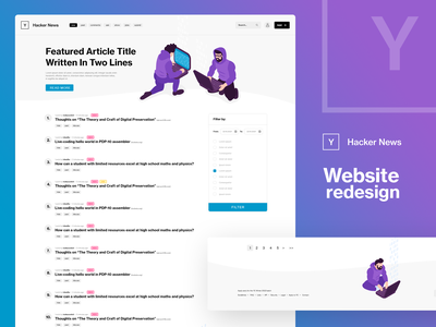 Hacker News design webdesign website web ux ui