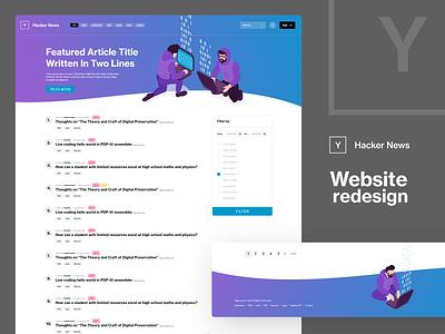 Hacker News v2 webdesign website web ux ui