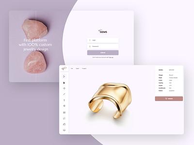 Gems branding logo app design webdesign website web ux ui
