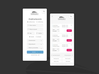 PKP Intercity travel search app mobile design webdesign website web ux ui