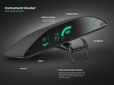 Instrument Cluster automotive dashboard car 3d design ux ui