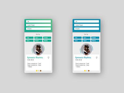 Olympic Sport Channel design ux ui app design product aplication apps app