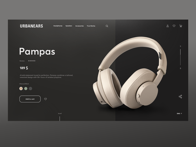 Urbanears product page redesign redesign concept inspiration headphones shop productpage uxui ui ux webdesign concept adobe photoshop redesign