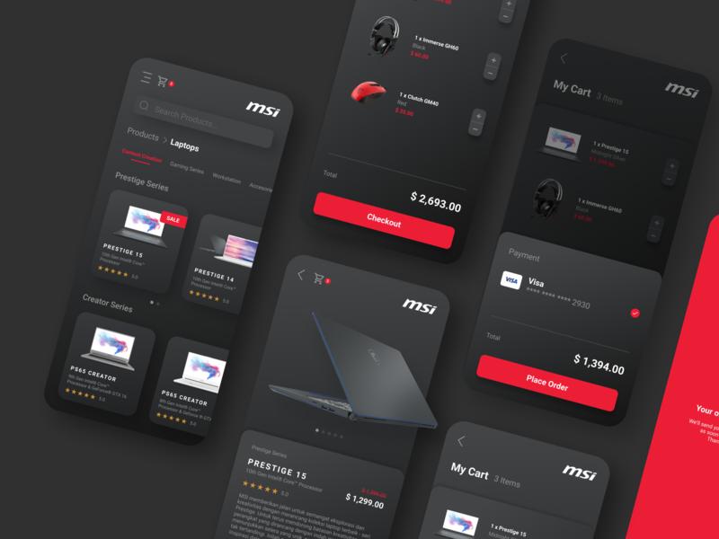 MSI Store App Design