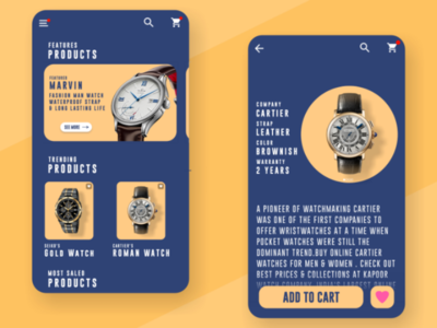 Watch Shopping App UI Design