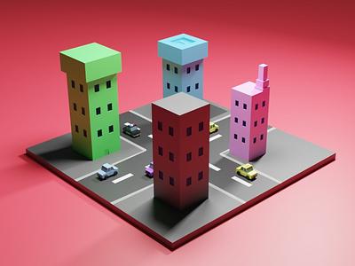 Isometric Building 3d art isometric 3d design 3disometric room modeling rendering blender isometric 3d