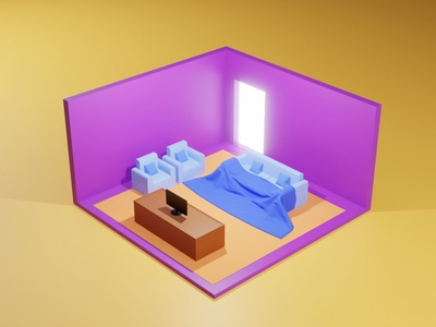 Isometric Room 3d art room isometric 3d design 3disometric rendering modeling blender isometric 3d